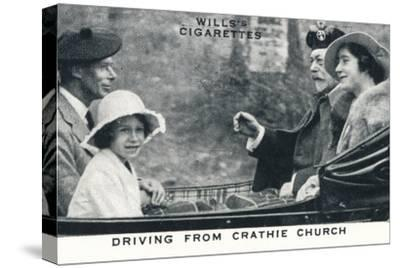 'Driving from Crathie Church', 1935 (1937)-Unknown-Stretched Canvas Print