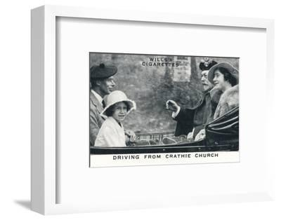 'Driving from Crathie Church', 1935 (1937)-Unknown-Framed Photographic Print