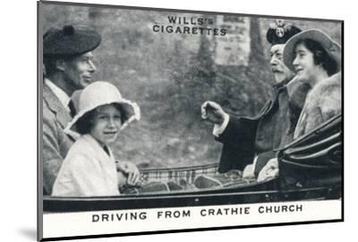 'Driving from Crathie Church', 1935 (1937)-Unknown-Mounted Photographic Print