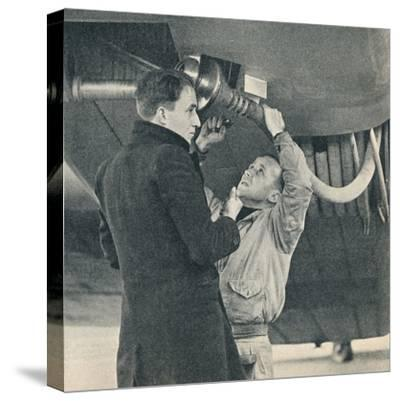Method of refuelling aircraft devised by Sir Alan Cobham, c1936 (c1937)-Unknown-Stretched Canvas Print