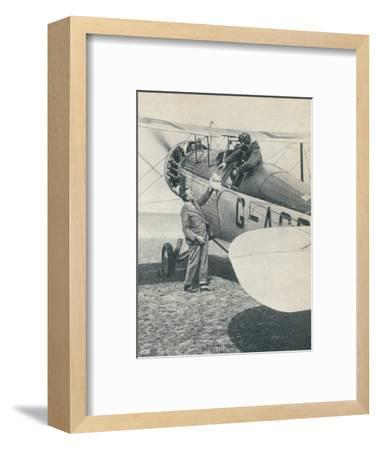 Before the first flight over Mount Everest, 1933 (c1937)-Unknown-Framed Photographic Print