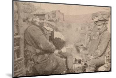 Dinner in the trenches, c1915 (1928)-Unknown-Mounted Photographic Print