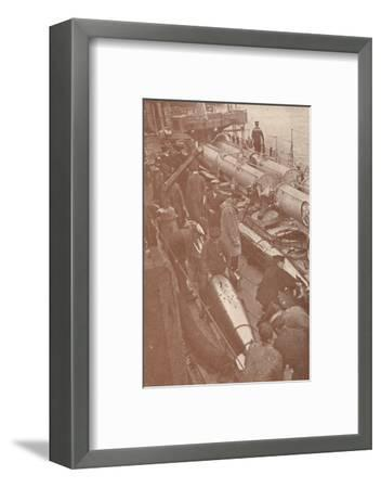 Cleaning and adjusting torpedoes, c1917 (1919)-Unknown-Framed Photographic Print