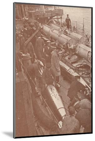 Cleaning and adjusting torpedoes, c1917 (1919)-Unknown-Mounted Photographic Print