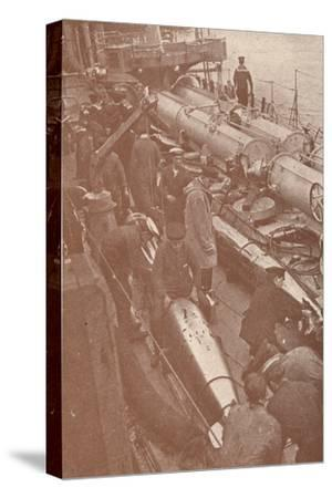 Cleaning and adjusting torpedoes, c1917 (1919)-Unknown-Stretched Canvas Print