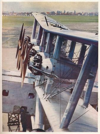 The four Bristol Jupiter engines of the Imperial Airways liner 'Scylla', c1936 (c1937)-Unknown-Framed Giclee Print