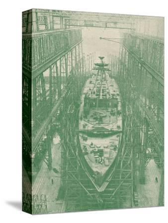 A light cruiser under construction, c1917 (1919)-Unknown-Stretched Canvas Print
