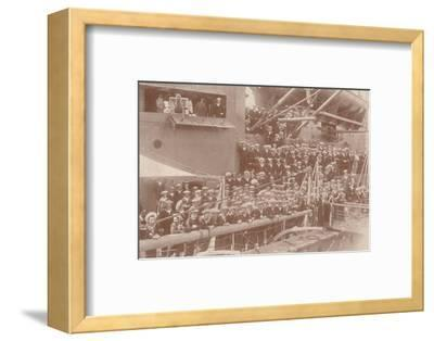 Some of the ship's company of HMAS 'Australia', c1917 (1919)-Unknown-Framed Photographic Print