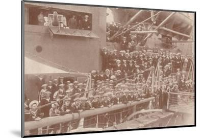 Some of the ship's company of HMAS 'Australia', c1917 (1919)-Unknown-Mounted Photographic Print
