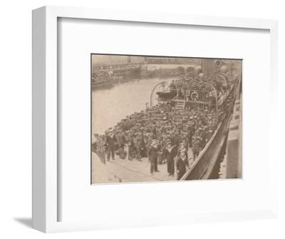 Troops on board a Channel transport, c1915 (1928)-Unknown-Framed Photographic Print