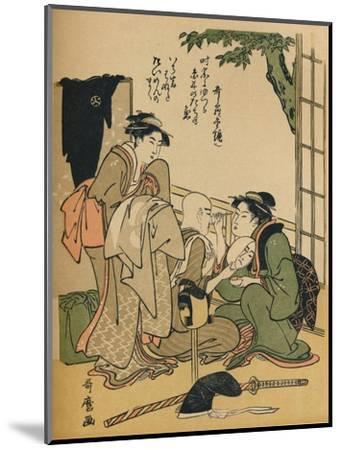 'Making Up For The Stage', c1780-Kitagawa Utamaro-Mounted Giclee Print