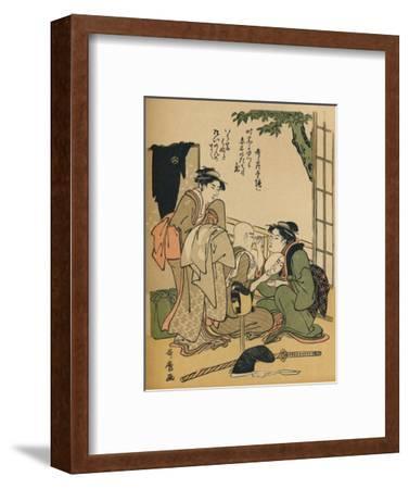 'Making Up For The Stage', c1780-Kitagawa Utamaro-Framed Giclee Print