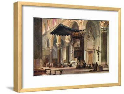 'Interior of Cathedral, San Remo', c1870-Alfred Waterhouse-Framed Giclee Print