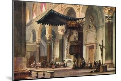 'Interior of Cathedral, San Remo', c1870-Alfred Waterhouse-Mounted Giclee Print