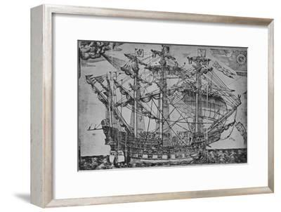 'The Ark Royal', 1588-Unknown-Framed Giclee Print