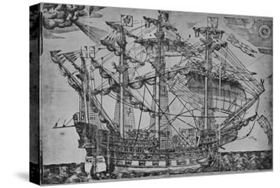 'The Ark Royal', 1588-Unknown-Stretched Canvas Print