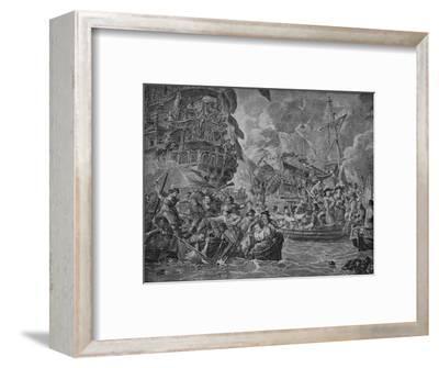 'The Dutch in the Medway', c1790-Dirk Langendijk-Framed Giclee Print