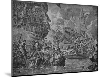 'The Dutch in the Medway', c1790-Dirk Langendijk-Mounted Giclee Print