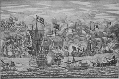 'The Relief of Gibraltar', c1710-Unknown-Framed Giclee Print