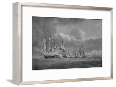 'Daring Action of Lord Cochrane', c1807-Nicholas Pocock-Framed Giclee Print