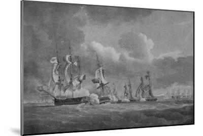'Daring Action of Lord Cochrane', c1807-Nicholas Pocock-Mounted Giclee Print