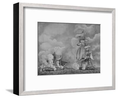 'The Constitution and the Guerriere', c1813-Unknown-Framed Giclee Print