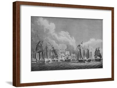 'Action on Lake Erie', c1814-Thomas Sully-Framed Giclee Print