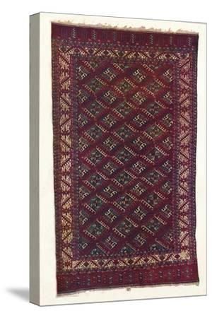 Yomut Turkoman carpet, c1700-Unknown-Stretched Canvas Print