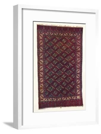 Yomut Turkoman carpet, c1700-Unknown-Framed Giclee Print