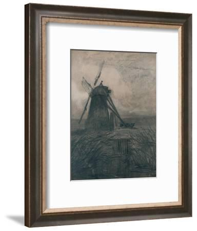 'A Marsh Mill', c1840-Thomas Lound-Framed Giclee Print