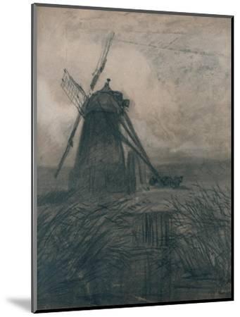 'A Marsh Mill', c1840-Thomas Lound-Mounted Giclee Print