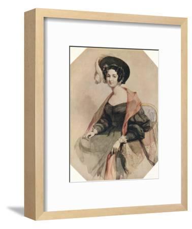 'Portrait of a Lady', c1855-John Absolon-Framed Giclee Print