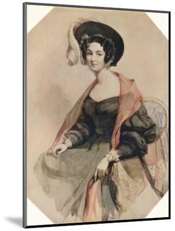 'Portrait of a Lady', c1855-John Absolon-Mounted Giclee Print