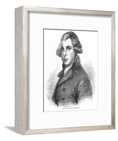 Richard Brinsley Sheridan, Irish dramatist, poet and politician, c1875 (1878)-Unknown-Framed Giclee Print