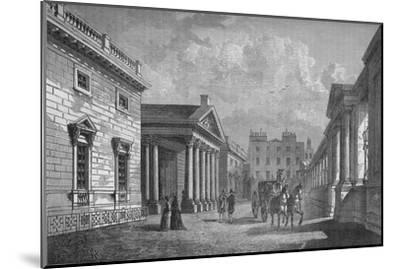 Front of Carlton House, Westminster, London, c1820 (1878)-Unknown-Mounted Giclee Print