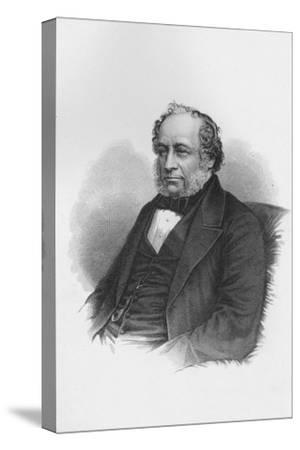 Sir Charles Barry, British architect, c1840 (1878)-Unknown-Stretched Canvas Print