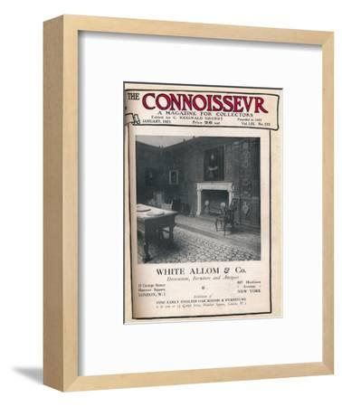 Cover of The Connoisseur, January 1921-Unknown-Framed Giclee Print