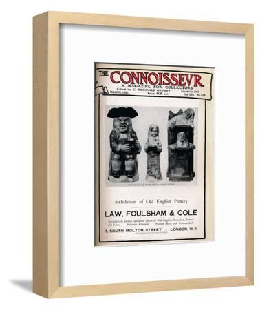 Cover of The Connoisseur, March 1921-Unknown-Framed Giclee Print