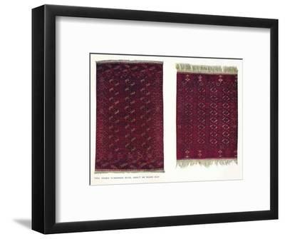 Two Tekke Turkoman rugs, c1800-Unknown-Framed Giclee Print