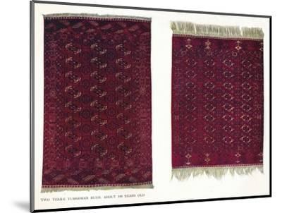 Two Tekke Turkoman rugs, c1800-Unknown-Mounted Giclee Print