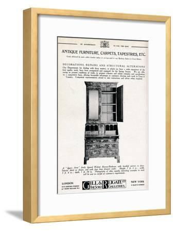 'Antique furniture, carpets, tapestries etc', 1921-Unknown-Framed Giclee Print