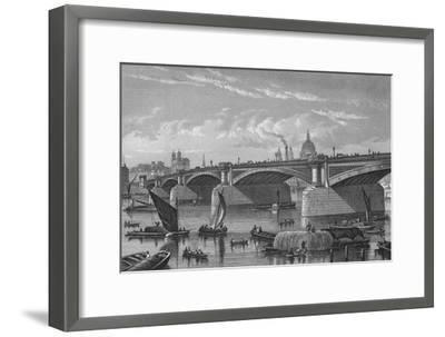 Blackfriars Bridge from the Surrey side, London, c1875 (1878)-Unknown-Framed Giclee Print