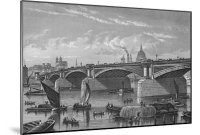 Blackfriars Bridge from the Surrey side, London, c1875 (1878)-Unknown-Mounted Giclee Print