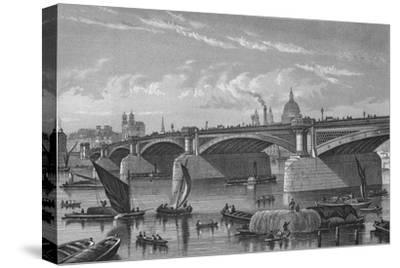 Blackfriars Bridge from the Surrey side, London, c1875 (1878)-Unknown-Stretched Canvas Print