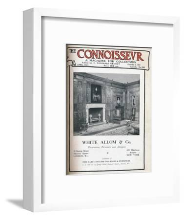 Cover of The Connoisseur, April 1921-Unknown-Framed Giclee Print