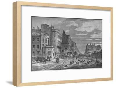 Tyburn Turnpike, Westminster, London, 1820 (1878)-Unknown-Framed Giclee Print