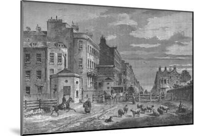 Tyburn Turnpike, Westminster, London, 1820 (1878)-Unknown-Mounted Giclee Print