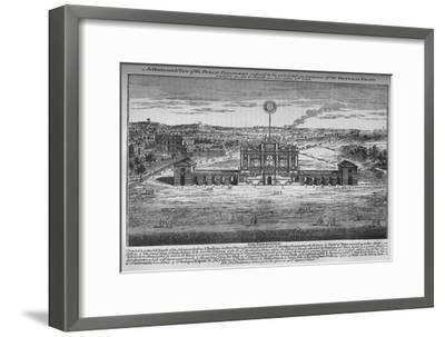 The peace rejoicings in the Green Park, Westminster, London, 1748 (1878)-Unknown-Framed Giclee Print