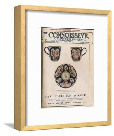 Cover of The Connoisseur, December 1921-Unknown-Framed Giclee Print