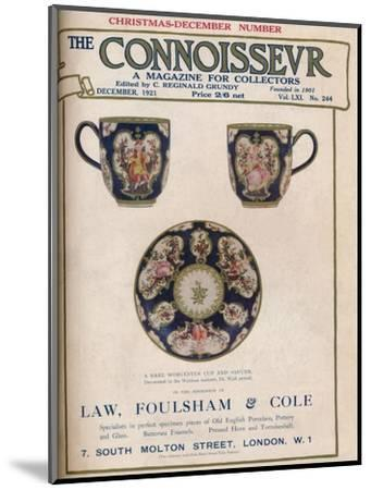 Cover of The Connoisseur, December 1921-Unknown-Mounted Giclee Print